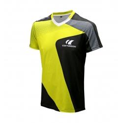 Cornilleau T-Shirt Adrenaline geel-zwart-grijs