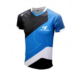 Cornilleau T-Shirt Icon blauw-zwart-wit