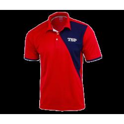 TSP Shirt Tameo Polyester rood-navy