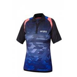 Andro Shirt Murphy Women blauw-zwart