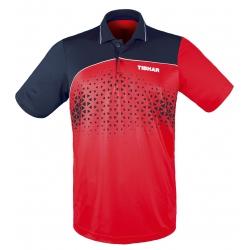 Tibhar Shirt Game Katoen rood-navy
