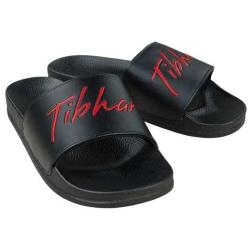 Tibhar Badsloefen Tibharlette zwart-rood