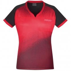 Donic Shirt Blitz Lady rood-zwart