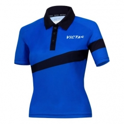 Victas V-Ladyshirt 217 blauw-zwart