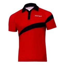 Victas V-Shirt 215 rood-zwart