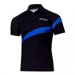 Victas V-Shirt 215 zwart-blauw