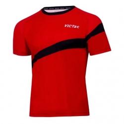 Victas V-T-Shirt 217 rood-zwart