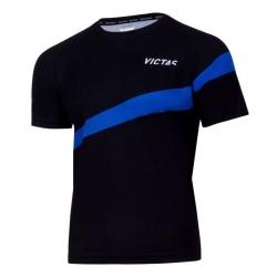 Victas V-T-Shirt 216 zwart-blauw