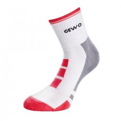 Gewo Sokken Step Flex II wit-rood