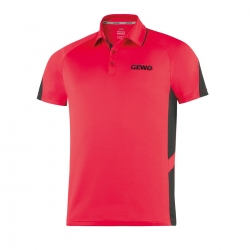 Gewo Shirt Carva rood-zwart