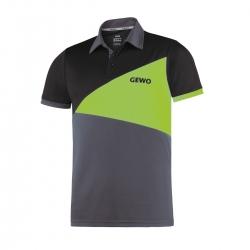 Gewo Shirt Anzio Polyester anthraciet-groen-zwart
