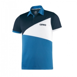 Gewo Shirt Anzio Polyester navy-wit-blauw