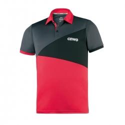 Gewo Shirt Anzio Polyester rood-zwart-anthraciet