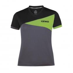 Gewo Shirt Anzio Lady anthraciet-groen-zwart
