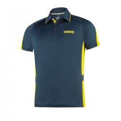 Gewo Shirt Carva navy-geel * M