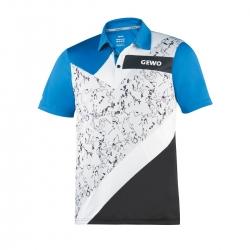Gewo Shirt Levanto grijsmelange-wit-zwart-blauw * S - M - L