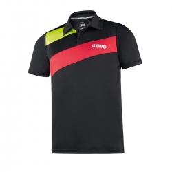 Gewo Shirt Novara zwart-rood * M - L