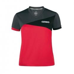 Gewo Shirt Anzio Lady rood-zwart-anthraciet * S - M