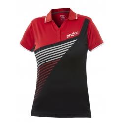 Andro Shirt Harris Women zwart-rood