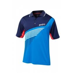 Andro Shirt Harris Polyester blauw-navy