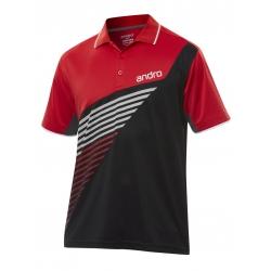 Andro Shirt Harris Katoen zwart-rood