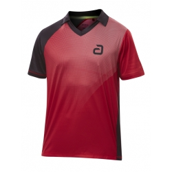 Andro Shirt Campell rood-zwart