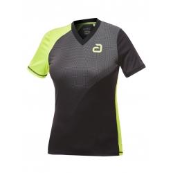 Andro Shirt Campell Women zwart-geel
