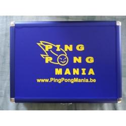 Alu Case PingPongMania blauw-geel