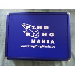 Alu Case PingPongMania blauw-wit