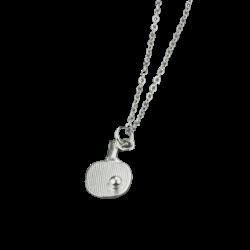 Tibhar Ketting + Hanger klein zilveren palet