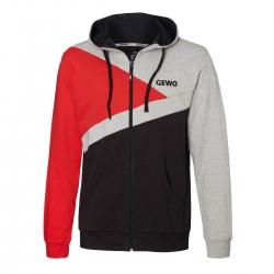 Gewo Hoody Lever grijs-zwart-rood
