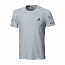 Andro Shirt Melange Alpha Casual grijs