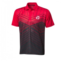 Andro Shirt Letis rood-zwart