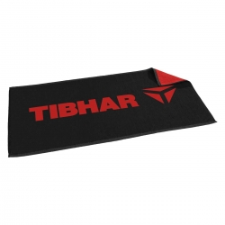 Tibhar Handdoek T zwart-rood