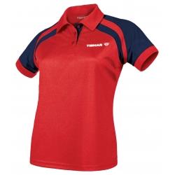 Tibhar Shirt Lady World rood-navy
