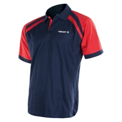 Tibhar Shirt World navy-rood