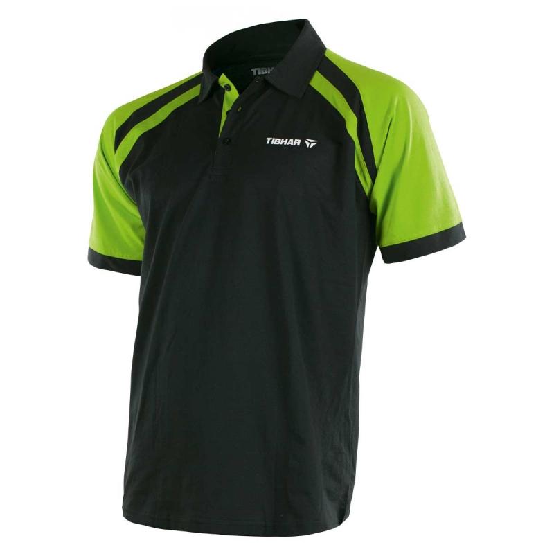 Tibhar Shirt World zwart-groen