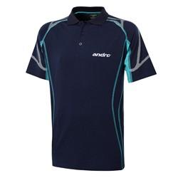 Andro Shirt Kolima katoen donkerblauw-groen
