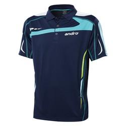Andro Shirt Agus donkerblauw-groen