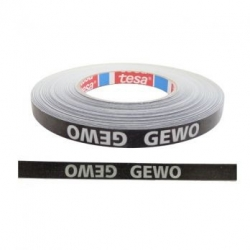 Gewo Zijkantband zwart-zilver 12 mm x 5 m