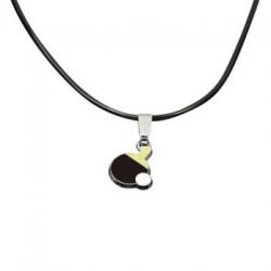 Tibhar Ketting rubber + Hanger palet zwart