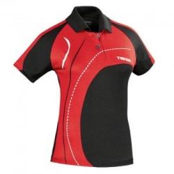 Tibhar Shirt Lady Tour zwart-rood