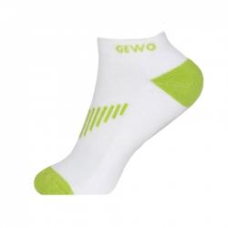 Gewo Sokken Kort Flex wit-blauw wit-groen