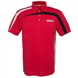 Gewo Shirt Primus Polyester rood-zwart