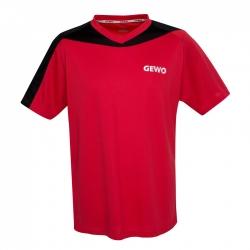 Gewo T-Shirt Rocco rood-zwart