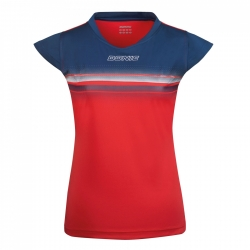 Donic Shirt Draft Lady rood-blauw
