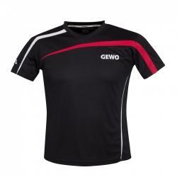 Gewo Shirt Pia Lady zwart-rood