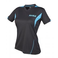 Joola Shirt Falk Lady zwart-petrolblauw