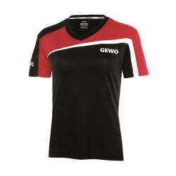 Gewo Shirt Teramo Lady S18-3 zwart-rood