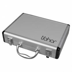 Tibhar Alu-Case Dubbel met Handvat * zilver